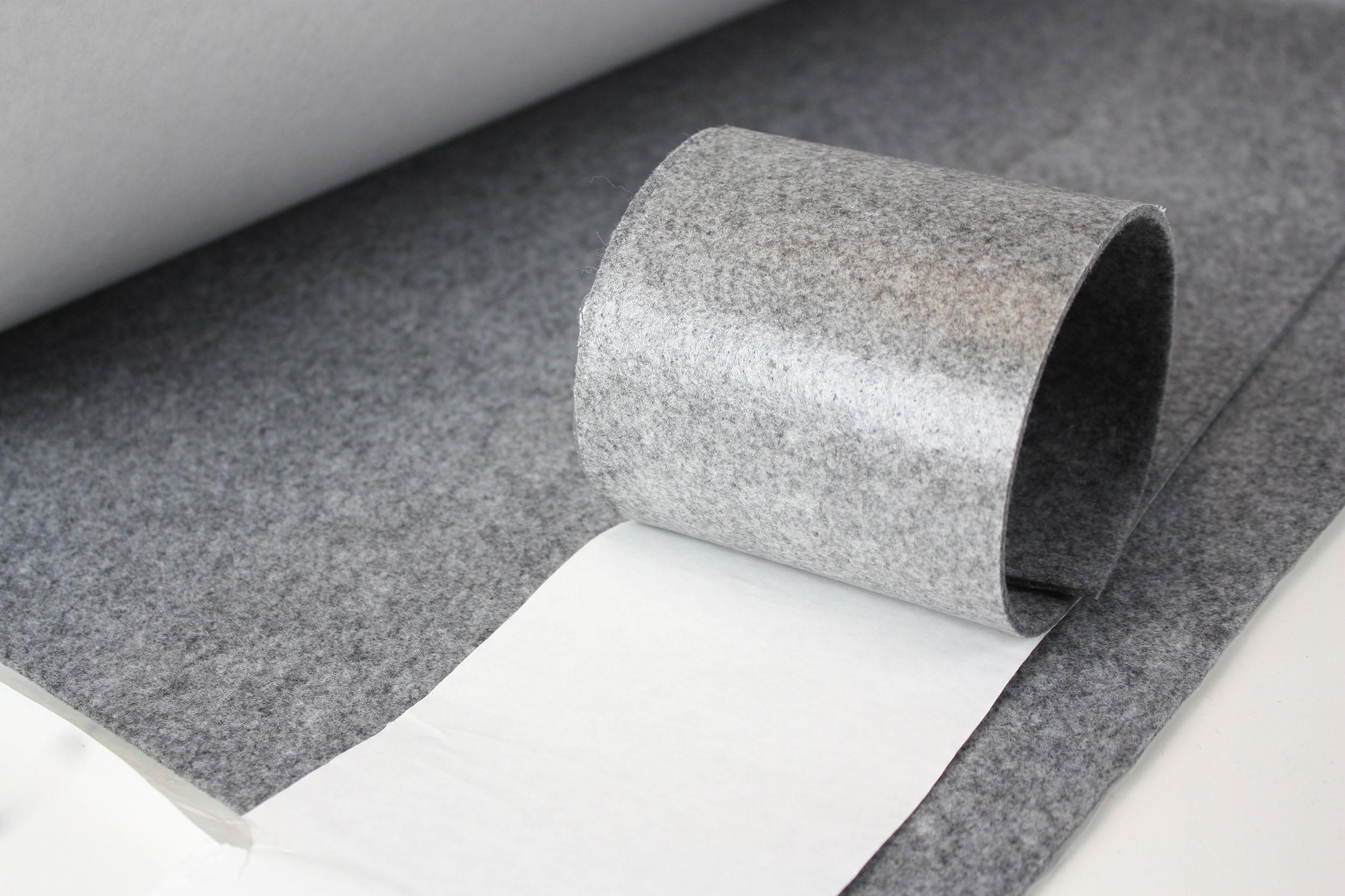 filz m belgleiter meterware 4 5mm dick selbstklebend grau neu ebay. Black Bedroom Furniture Sets. Home Design Ideas